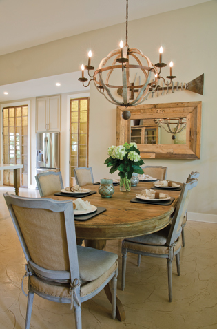ABOVE LEFT A Pair Of Biege Zebra Print Upholstered Host And Hostess Chairs Add Touch Whimsy To This Formal Dining Room Without Being Too Distracting