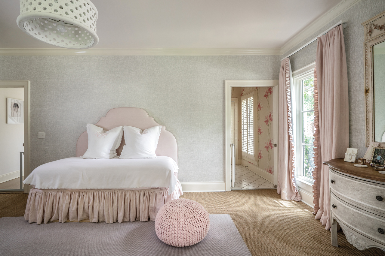 A Soothing, Sophisticated Color Palette Of Blush, Cream And Gray Is Carried  Throughout The Nursery. Wall To Wall Seagrass Carpeting Is Layered With A  Softer ...