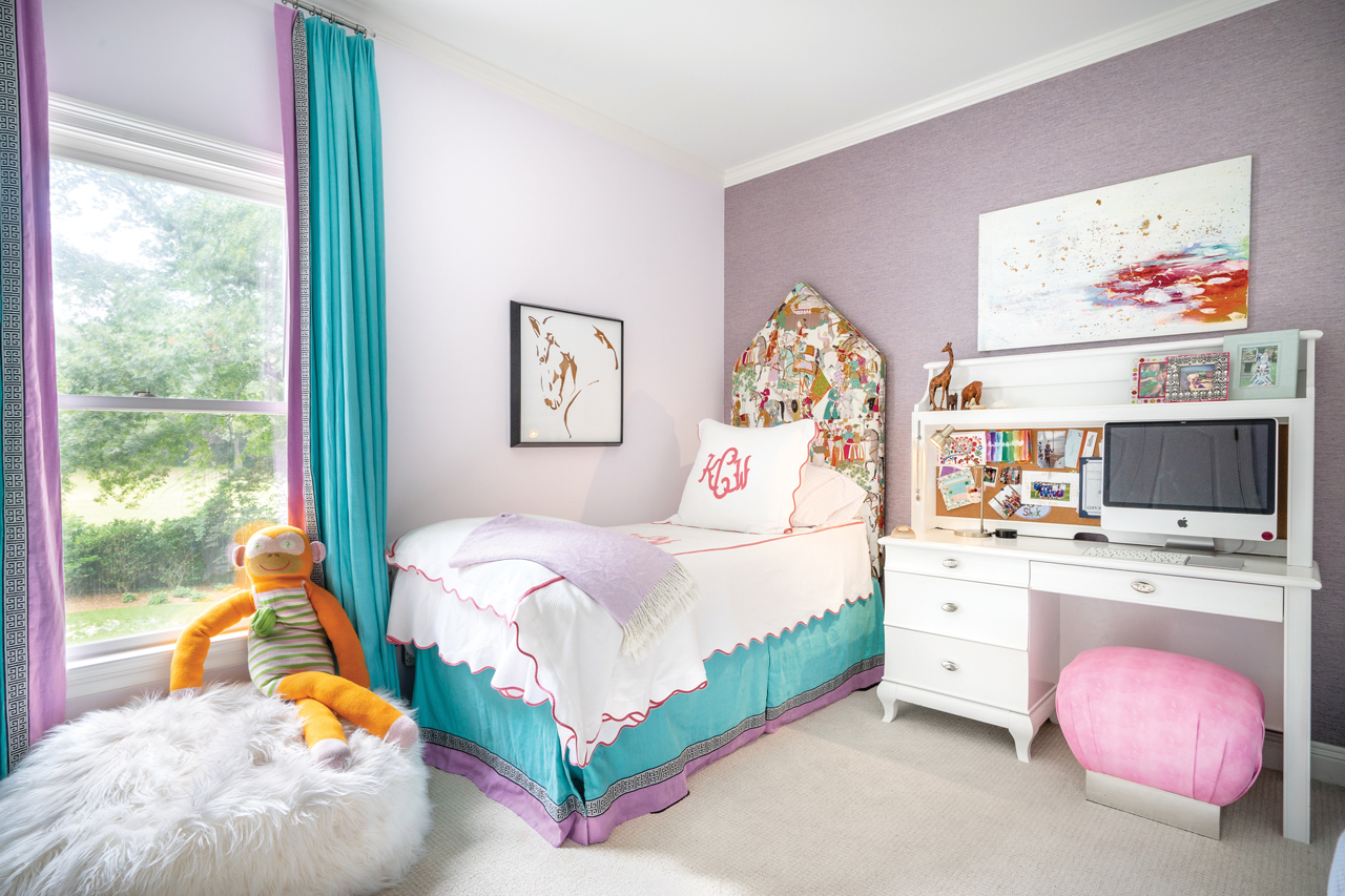 Younger Sister Woody Collins, Age 11, Has A Room With Just As Much Cool As  Big Sister Mary Frances. Woody Chose The Turquoise And Purple Color Combo  Used On ...